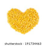 Heart Made Of Corn. Isolated O...