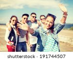 summer holidays and teenage... | Shutterstock . vector #191744507