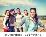 summer holidays and teenage... | Shutterstock . vector #191744543