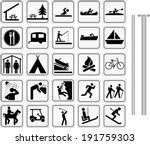 camping  parks and recreation... | Shutterstock .eps vector #191759303
