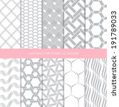 abstract patterns background... | Shutterstock .eps vector #191789033