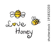 honey and bee icon | Shutterstock .eps vector #191832203