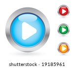 glossy play button set | Shutterstock .eps vector #19185961