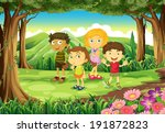 illustration of the four kids... | Shutterstock . vector #191872823