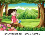 illustration of a young girl... | Shutterstock . vector #191873957