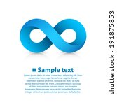 infinity blue icon sign ... | Shutterstock .eps vector #191875853