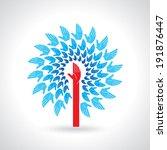 teamwork symbol design | Shutterstock .eps vector #191876447