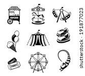 amusement entertainment park... | Shutterstock .eps vector #191877023