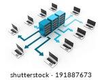 computer network | Shutterstock . vector #191887673