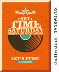 party poster design with... | Shutterstock .eps vector #191890703