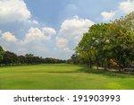 green trees in beautiful park... | Shutterstock . vector #191903993