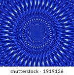 Into A Blue Tunel  Illusion  ...