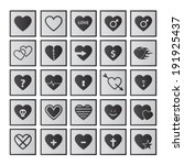 vector set of heart icons.  | Shutterstock .eps vector #191925437