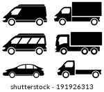 black set transport icons on... | Shutterstock .eps vector #191926313