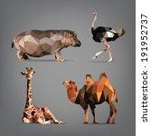 set of wild animals in the... | Shutterstock .eps vector #191952737