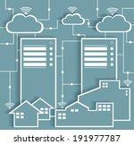 big data paper cutout stickers... | Shutterstock .eps vector #191977787