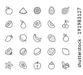 set of outline stroke fruit... | Shutterstock .eps vector #191983127