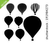 Hot Air Balloon Silhouettes...