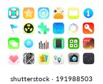 flat icons gradient style with... | Shutterstock . vector #191988503