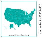 united states map on paper... | Shutterstock .eps vector #191994113