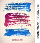 set of brush strokes  vector... | Shutterstock .eps vector #192037643