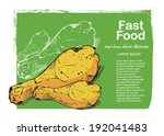 fast food background. hand... | Shutterstock .eps vector #192041483