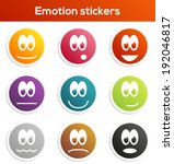 Set Of 9 Isolated Stickers Wit...