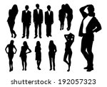 set of people silhouettes | Shutterstock .eps vector #192057323
