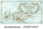 drawing vintage banner on... | Shutterstock .eps vector #192071927