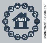 smart house vector icons set | Shutterstock .eps vector #192083747