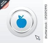 apple sign icon. fruit with...   Shutterstock .eps vector #192092993