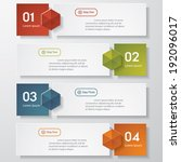 design clean number banners... | Shutterstock .eps vector #192096017