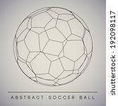 abstract soccer ball   eps10... | Shutterstock .eps vector #192098117