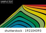 curved modern vector background