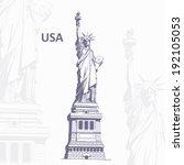 journey to usa | Shutterstock .eps vector #192105053