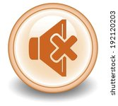 mute circular icon on orange ...