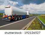 a tanker truck on the highway... | Shutterstock . vector #192126527