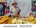zumbahua  ecuador   april 19 ... | Shutterstock . vector #192131927