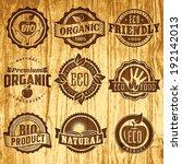 set of vintage labels templates ... | Shutterstock .eps vector #192142013