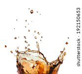 splash of cola in glass... | Shutterstock . vector #192150653