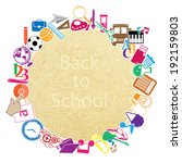 back to school on paper... | Shutterstock .eps vector #192159803