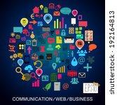 web communication business... | Shutterstock .eps vector #192164813