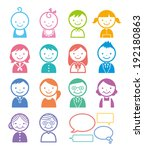 people | Shutterstock .eps vector #192180863