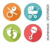 Baby Icons  Flat Design