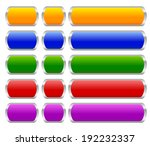 buttons or banner shapes with...
