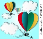 cartoon background with heart... | Shutterstock . vector #192232517