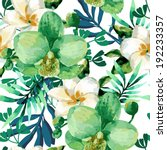 Tropical Watercolor Floral...