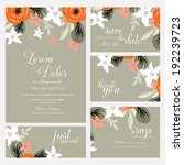 wedding invitation card | Shutterstock .eps vector #192239723