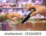 woman hand with credit card...   Shutterstock . vector #192262853