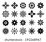 set of vectorized flowers | Shutterstock .eps vector #192268967